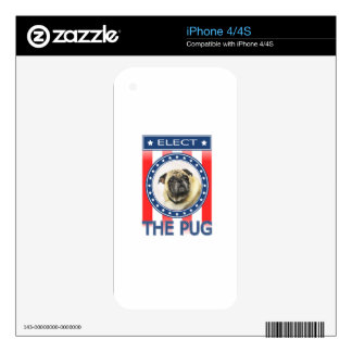 Elect The Pug iPhone 4 Skin