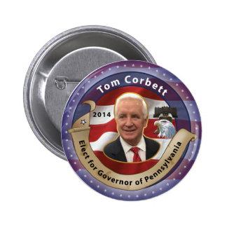 Elect Tom Corbett for Governor of Pennsylvania Pinback Button