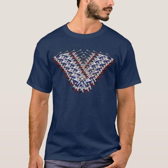 Electic Guitar Flying V Collage Shirt