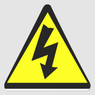 Electicity Warning Symbol Triangle Sticker