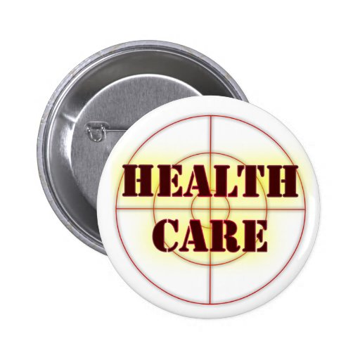 Election 2008 Health Care Issues Button