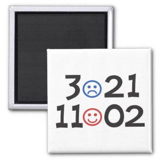 Election 2010 - November 2nd - Referendum on Obama 2 Inch Square Magnet