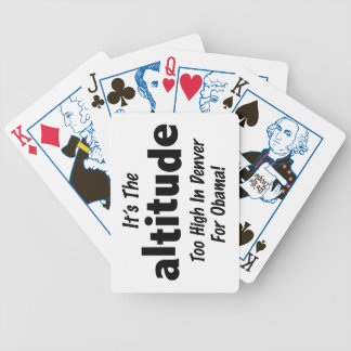 Election 2012 Anti Obama It's the Altitude Bicycle Playing Cards