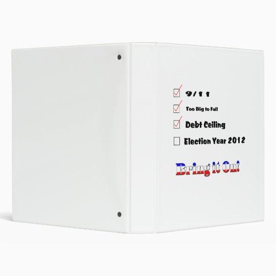 Election 2012 Checklist Binder