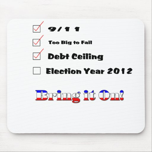Election 2012 Checklist Mouse Pad