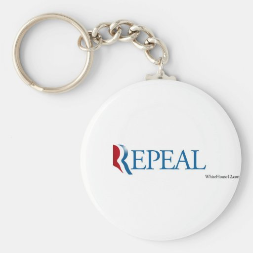 """Election 2012 """"Repeal"""" Gear Basic Round Button Keychain"""