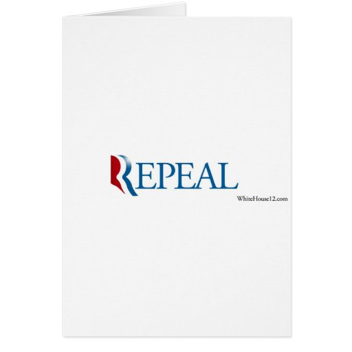 "Election 2012 ""Repeal"" Gear Card"