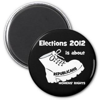 election 2012 women's rights 2 inch round magnet