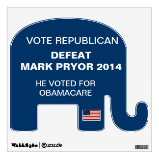 Election 2014 Defeat Mark Pryor Wall Sticker