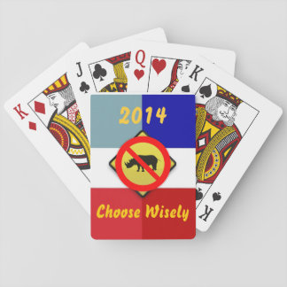 Election 2014 No RINOs Teaparty playing Cards
