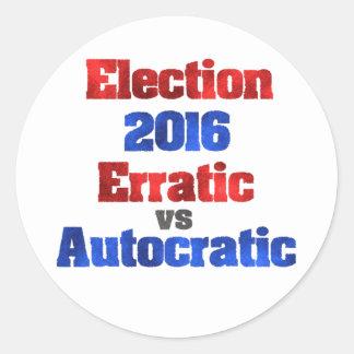 Election 2016 classic round sticker