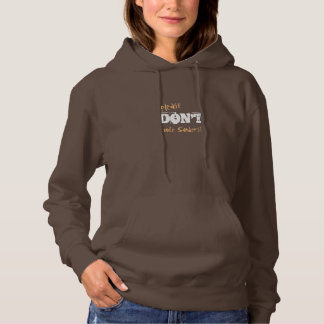 Election 2016 Don't Vote Sanders customizable Text Hoodie