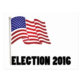 Election 2016 Flag Postcard