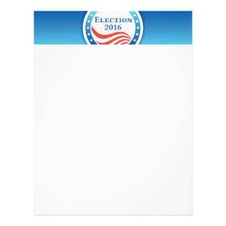 Election 2016 logo letterhead