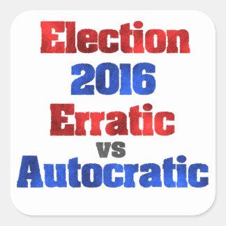 Election 2016 square sticker