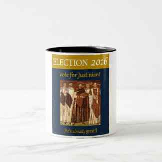 Election 2016 Vote for Justinian the Great Two-Tone Coffee Mug