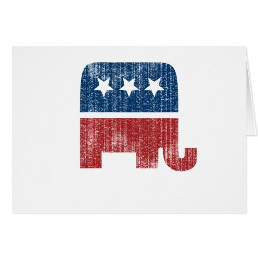 election animal elefant republican greeting card