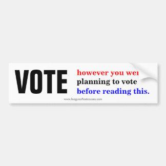 """Election"" bumper sticker Car Bumper Sticker"