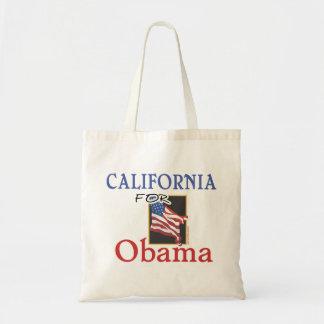 Election California for Obama Canvas Bag