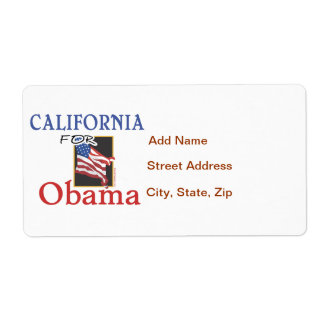 Election California for Obama Label