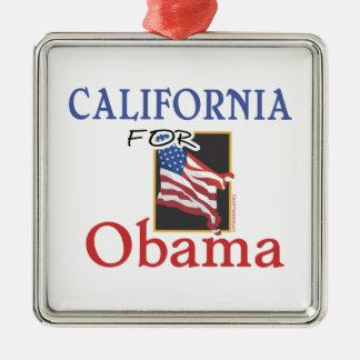 Election California for Obama Metal Ornament