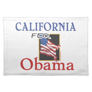 Election California for Obama Cloth Placemat