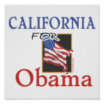 Election California for Obama Poster