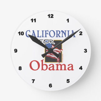 Election California for Obama Round Clock