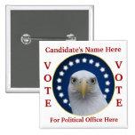 Election Campaign Bald Eagle Pin