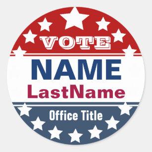 Election Campaign Classic Round Sticker