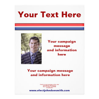 Sample Flyers For Election Pasoevolistco - Political campaign brochure template