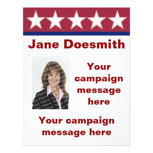 Election Campaign Flyer Template | Zazzle