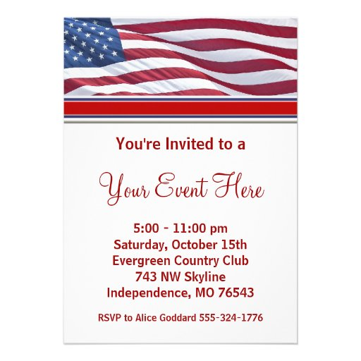 Election Campaign Party Invitations