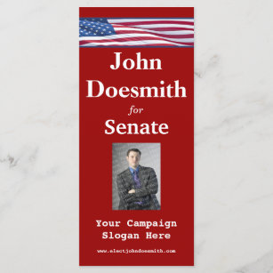 election campaign rack card template
