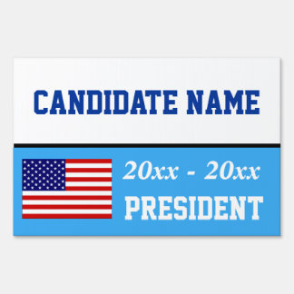 Election campaign yard sign