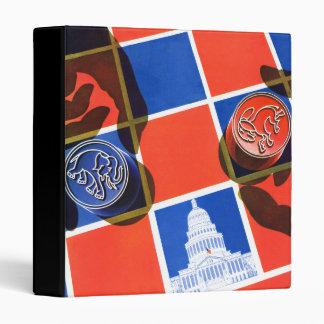 Election Checkerboard Vinyl Binders