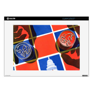 """Election Checkerboard Decal For 15"""" Laptop"""