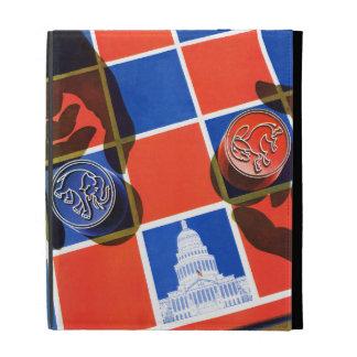 Election Checkerboard iPad Folio Case