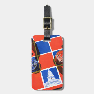 Election Checkerboard Luggage Tag