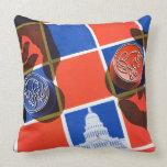 Election Checkerboard Throw Pillow