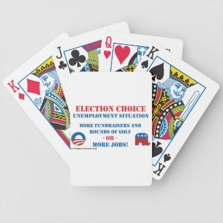 Election Choice - Unemployment Bicycle Playing Cards
