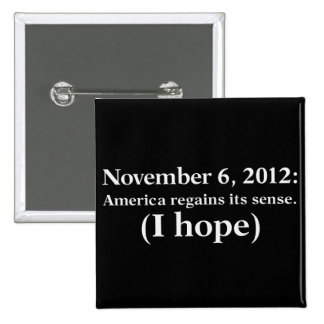 Election Day 2012 I Hope America Wakes Up 2 Inch Square Button
