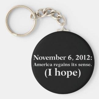 Election Day 2012 I Hope America Wakes Up Keychain