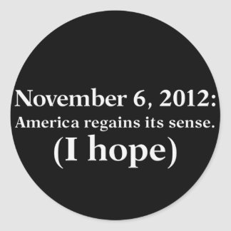 Election Day 2012 I Hope America Wakes Up Round Stickers