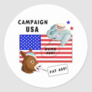 Election Day Campaign USA Classic Round Sticker