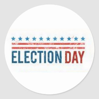 Election Day Classic Round Sticker