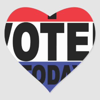 Election Day I VOTED TODAY.png Heart Sticker