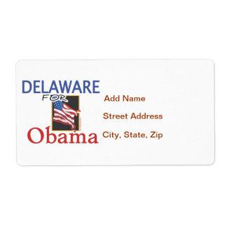 Election Delaware for Obama Shipping Label