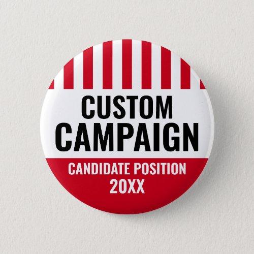 Election Design _ Vintage Shield Red White Black Button