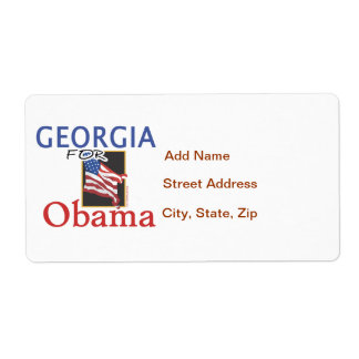 Election Georgia for Obama Shipping Label